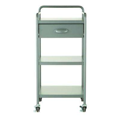Steel 1-Drawer Cart in Grey