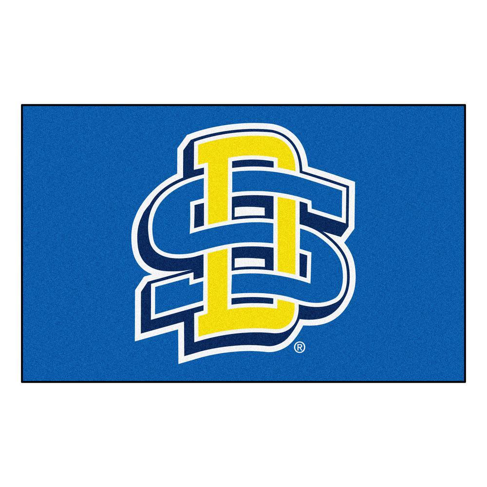 Fanmats Ncaa South Dakota State University Blue 5 Ft X 8