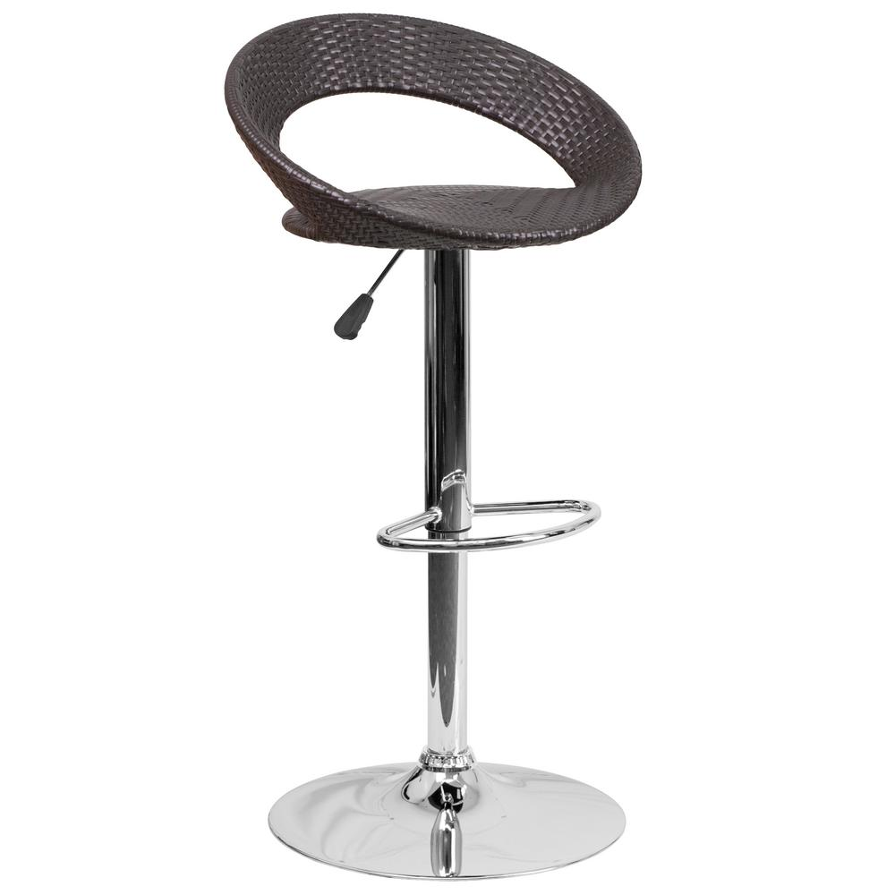 Flash Furniture Adjustable Height Chrome Bar Stool