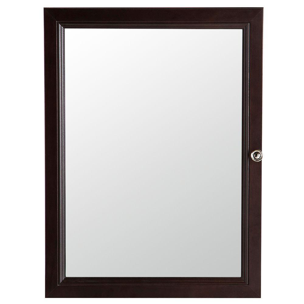 Glacier Bay Delridge 22 inch W x 29-1/2 inch H Framed Surface-Mount Modular Bathroom Medicine Cabinet in Chocolate by Glacier Bay