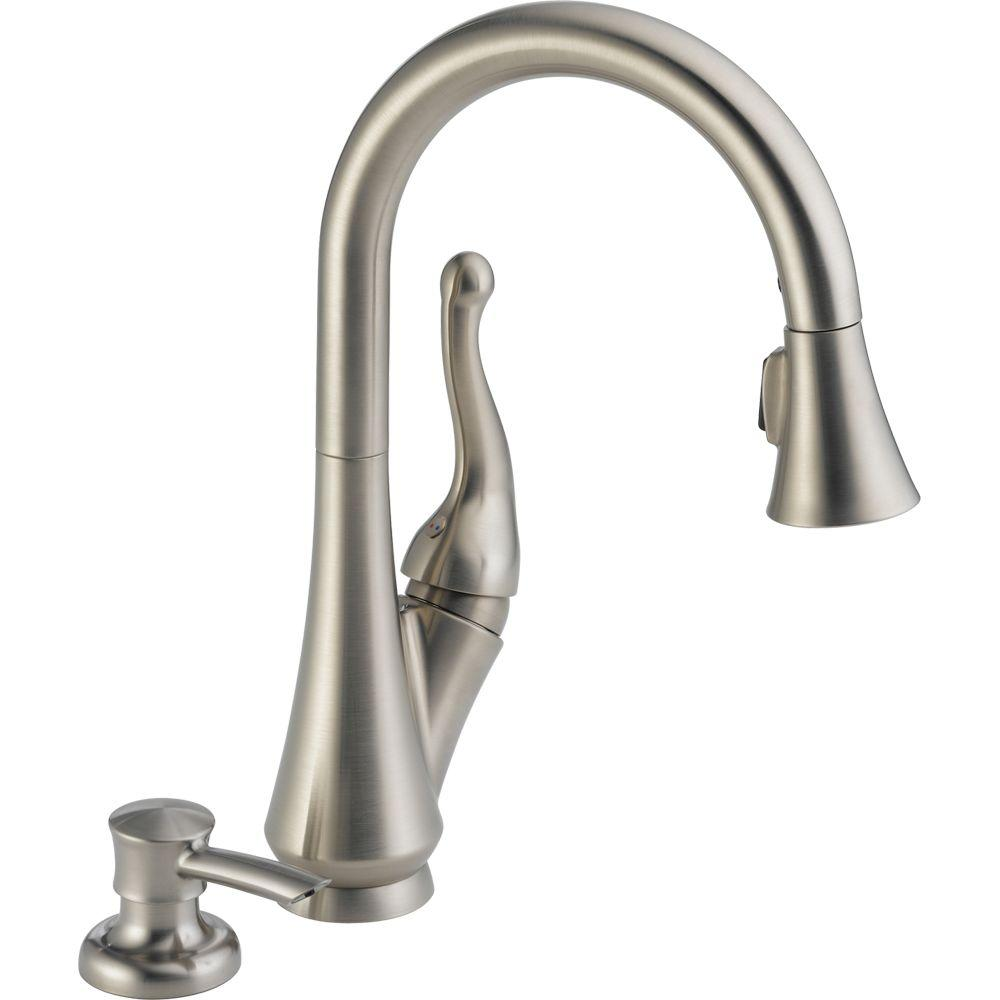 Delta Talbott Single Handle Pull Down Sprayer Kitchen Faucet With