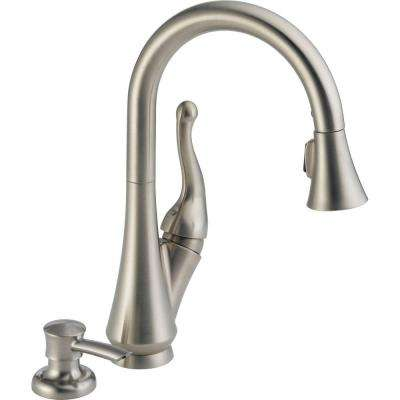 Talbott Single-Handle Pull-Down Sprayer Kitchen Faucet with Soap Dispenser in Stainless Featuring MagnaTite Docking