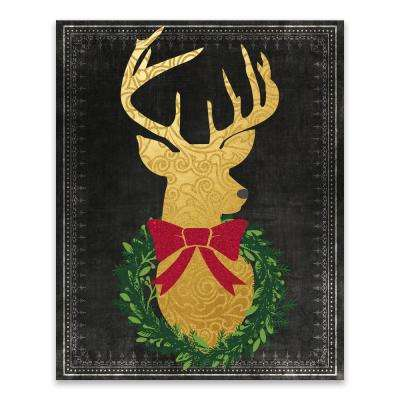 """Reindeer Head"" by Lot26 Studio Printed Canvas Wall Art"