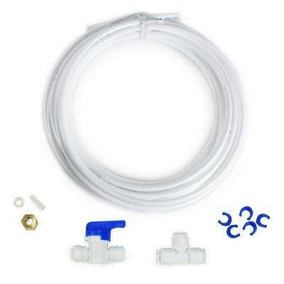 Fridge and Ice Maker Kit for Reverse Osmosis Drinking Water Systems and Water Filters with 1/4 in. O.D. Tubing