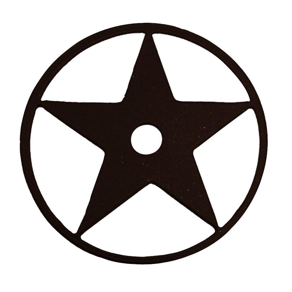 3-1/8 in. Dia Texas Star Decorative Black Roller Cover