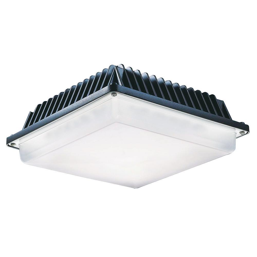 ProLED 58-Watt Bronze Outdoor Integrated LED Area Canopy Light Fixture Daylight  sc 1 st  Home Depot & ProLED 58-Watt Bronze Outdoor Integrated LED Area Canopy Light ...