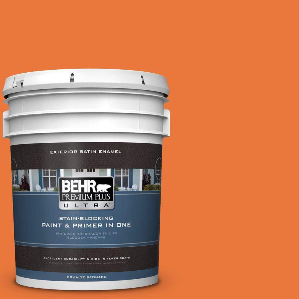 BEHR Premium Plus Ultra 5-gal. #S-G-250 Solar Flare Satin Enamel Exterior Paint