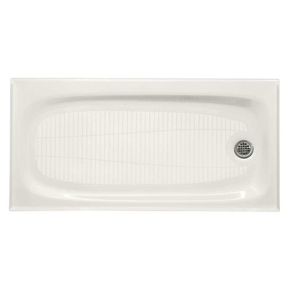 kohler cast iron shower base 36 x 48 KOHLER Salient 60 in. x 30 in. Single Threshold Shower Base in  kohler cast iron shower base 36 x 48