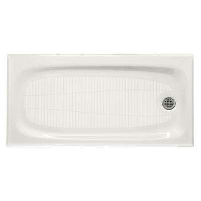 Salient 60 in. x 30 in. Single Threshold Shower Base in White