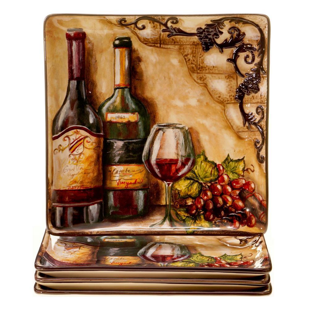 Certified International Tuscan View Beige Dinner Plate (Set of 4)