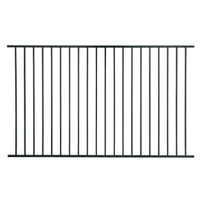 Pro Series 4.84 ft. H x 7.75 ft. W Black Steel Fence Panel