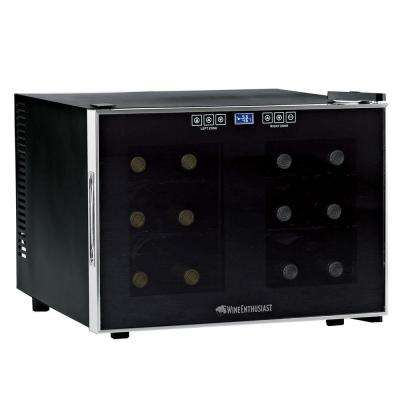 12-Bottle Dual Zone Touchscreen Wine Cooler