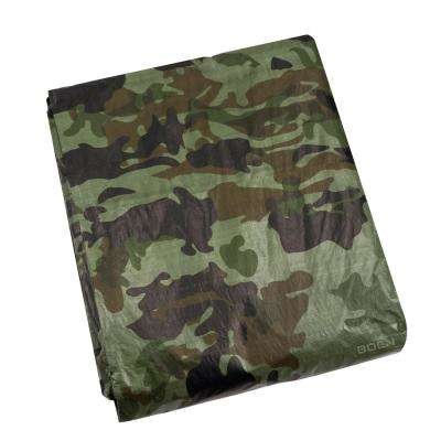 10 ft. x 12 ft. Heavy Duty Camouflage Poly Tarp Cover Waterproof Tarpaulin Great for Canopy Tent Boat RV