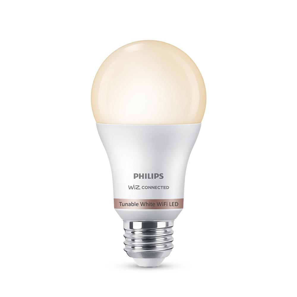 Philips Tunable White A19 LED 60W Equivalent Dimmable Smart Wi-Fi Wiz Connected Wireless Light Bulb