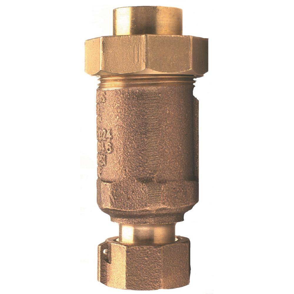 Zurn-Wilkins 1/2 in. FNPT Inlet and Outlet Lead-Free Dual Check Valve