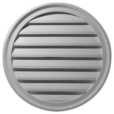 2 in. x 36 in. x 36 in. Functional Round Gable Louver Vent