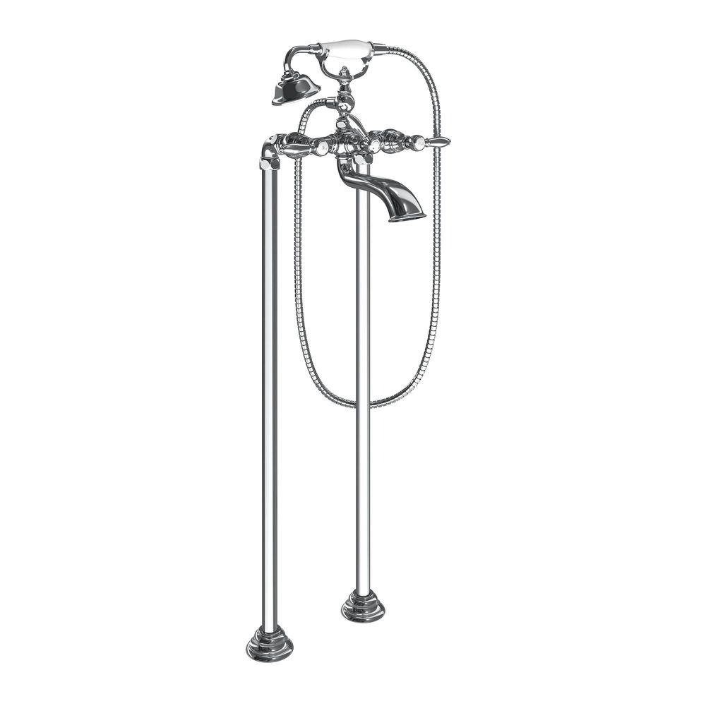 MOEN Weymouth 2-Handle Claw Foot Tub Faucet with Hand Shower in Chrome