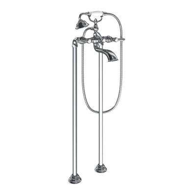 Weymouth 2-Handle Claw Foot Tub Faucet with Hand Shower in Chrome