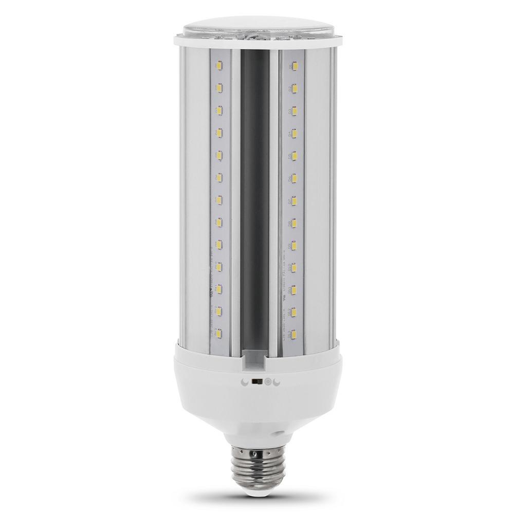 300-Watt Equivalent LED Corn Cob Motion Activated High Lumen Utility LED Light Bulb in Daylight (12-Pack)