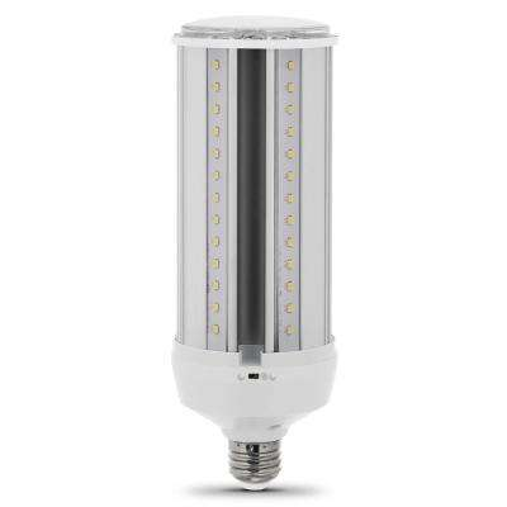 300-Watt Equivalent LED Corn Cob Motion Activated High Lumen Utility LED Light Bulb in Daylight (4-Pack)