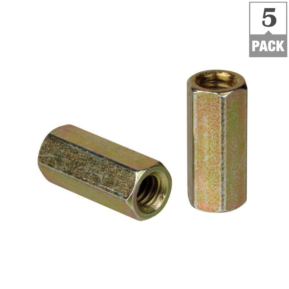 Superstrut 3/8 in. Threaded Rod Coupling - Gold Galvanized (5-Pack)