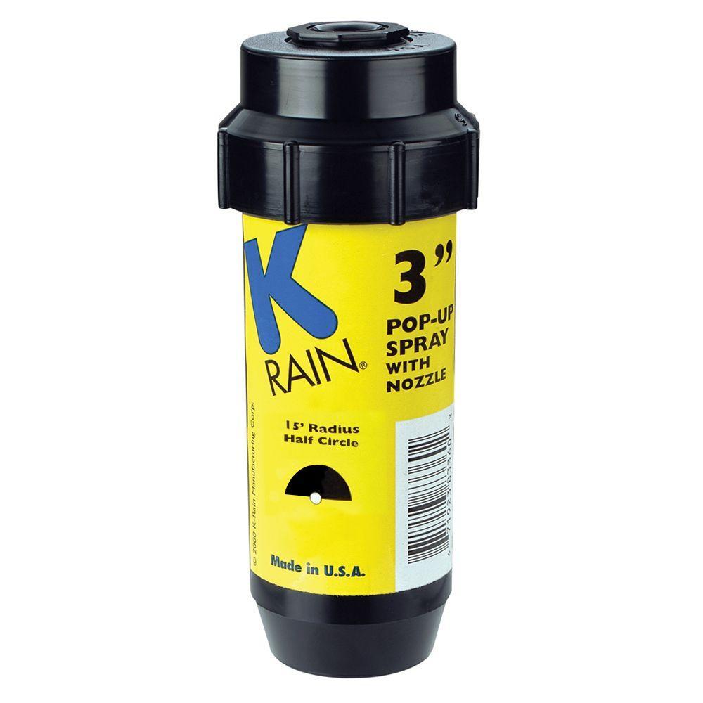 3 in. KSpray Pop-Up Sprinkler 1/2 Circle Pattern Nozzle