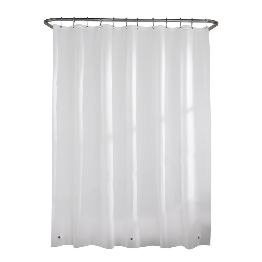 Glacier Bay PEVA Premium 8-Gauge 71 in. Shower Curtain Liner in White