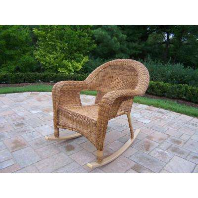 Natural Wicker Outdoor Rocking Chair (2-Pack)