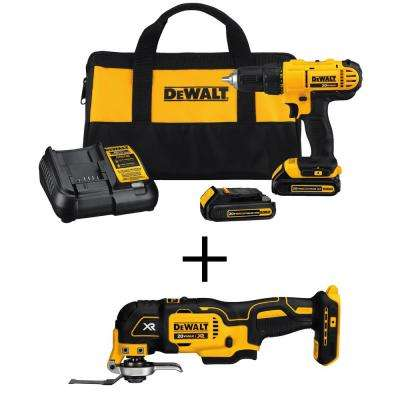 20-Volt MAX Lithium-Ion Cordless 1/2 in. Drill/Driver Kit with Bonus  Bare Oscillating Multi-Tool
