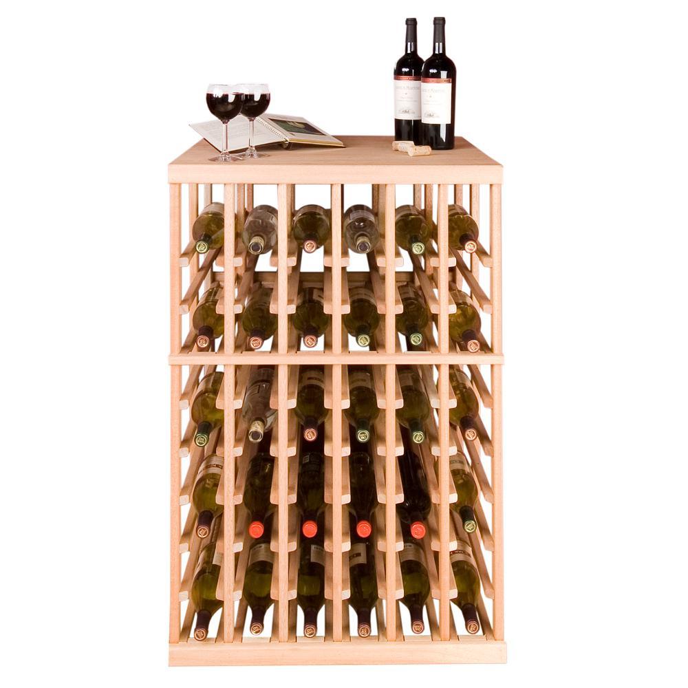 108-Bottle Pine Floor Wine Rack