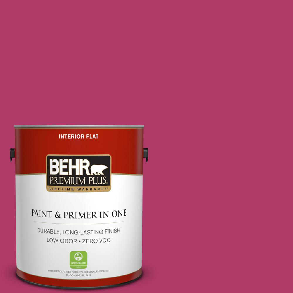 1 gal. #HDC-SM16-04 Bing Cherry Pie Zero VOC Flat Interior Paint