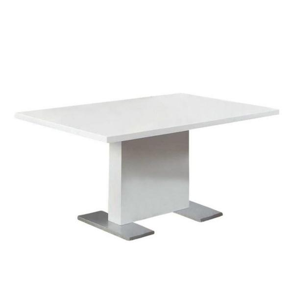 Jasmine White Wood Dining Table for (Seats of 6)