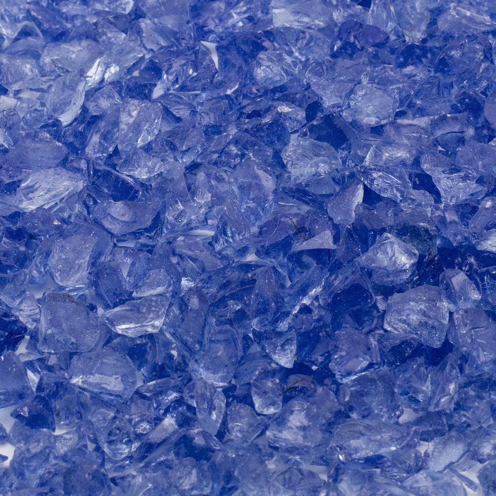 Margo Garden Products 1/4 in. 10 lb. Royal Blue Landscape Fire Glass