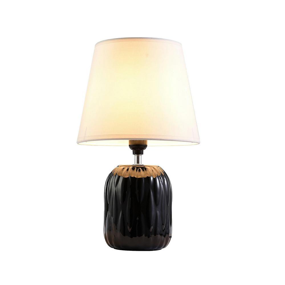 ORE International Indira 15 In. Black Table Lamp