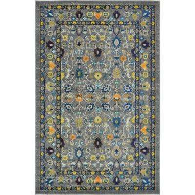 Fine Traditional Palazzo Gray 5 ft. x 8 ft. Area Rug