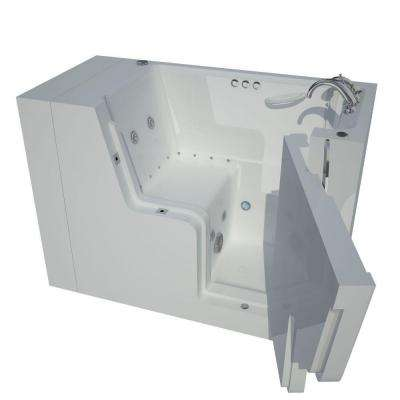 4.5 ft. Right Drain Wheel Chair Accessible Whirlpool and Air Bath Tub in White