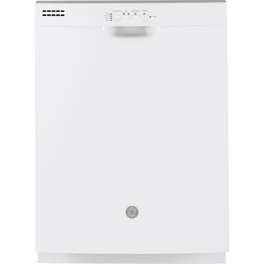 GE 24 in. Front Control Built-In Tall Tub Dishwasher in White, 59 dBA