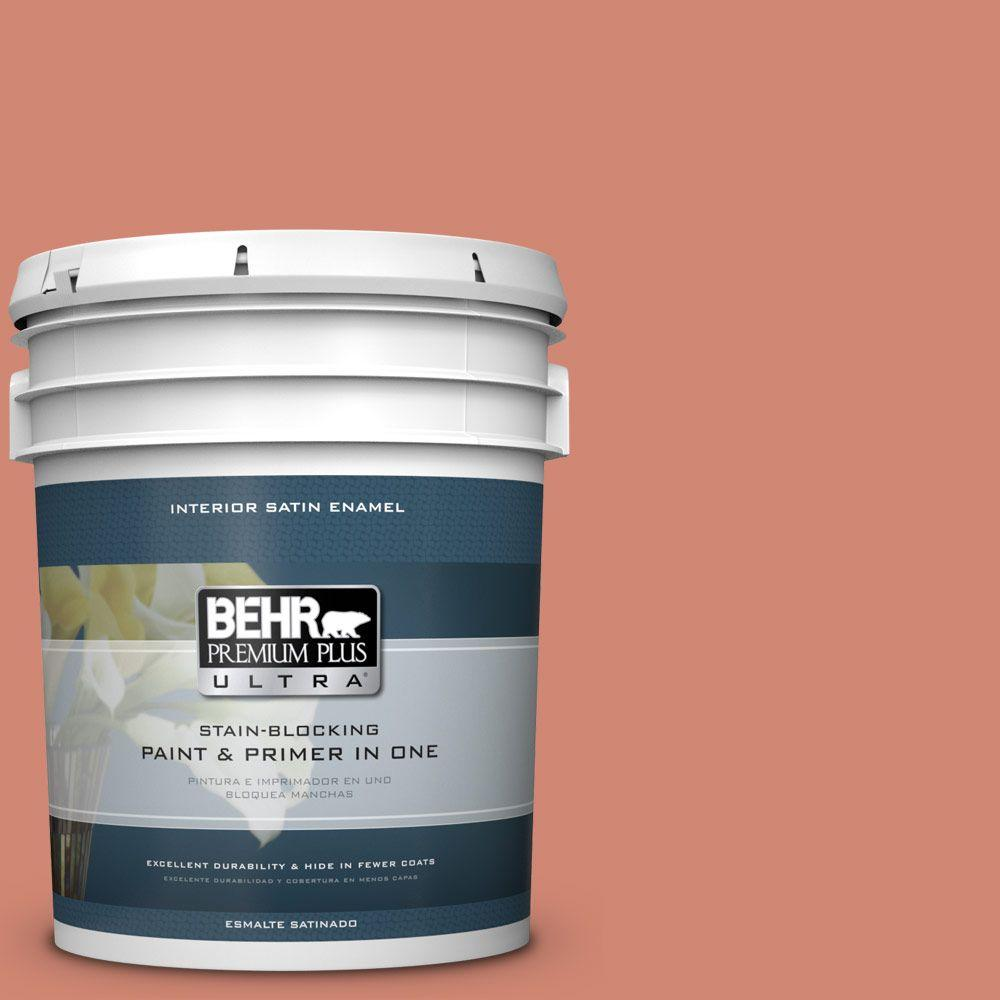5 gal. #HDC-WR16-02 Rosy Copper Satin Enamel Interior Paint