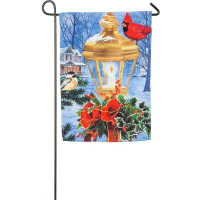 18 in. x 12.5 in. Birds on Post Garden Suede Flag