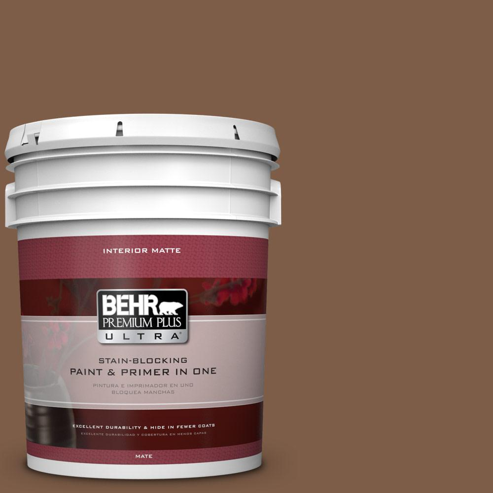 5 gal. #BXC-65 Outback Brown Matte Interior Paint
