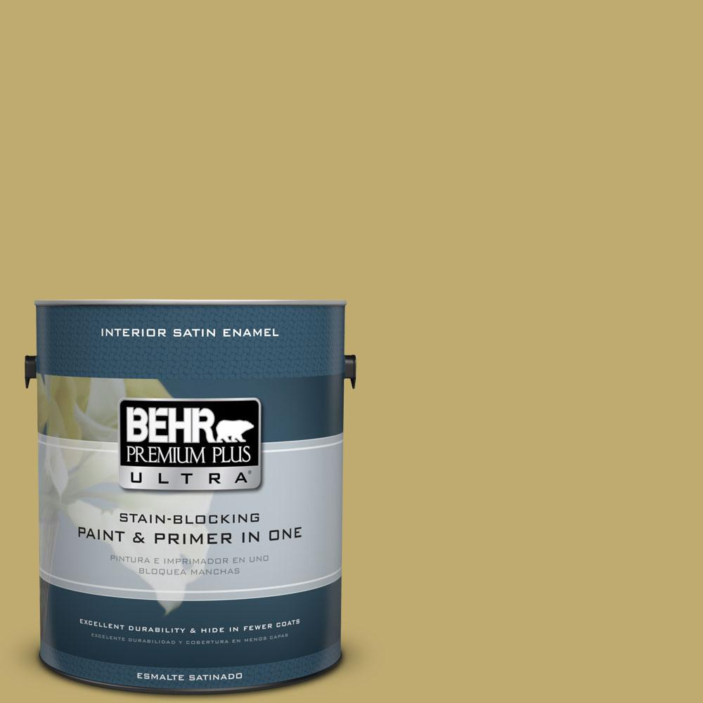 BEHR Premium Plus Ultra 1-gal. #370F-5 Coriander Seed Satin Enamel Interior Paint