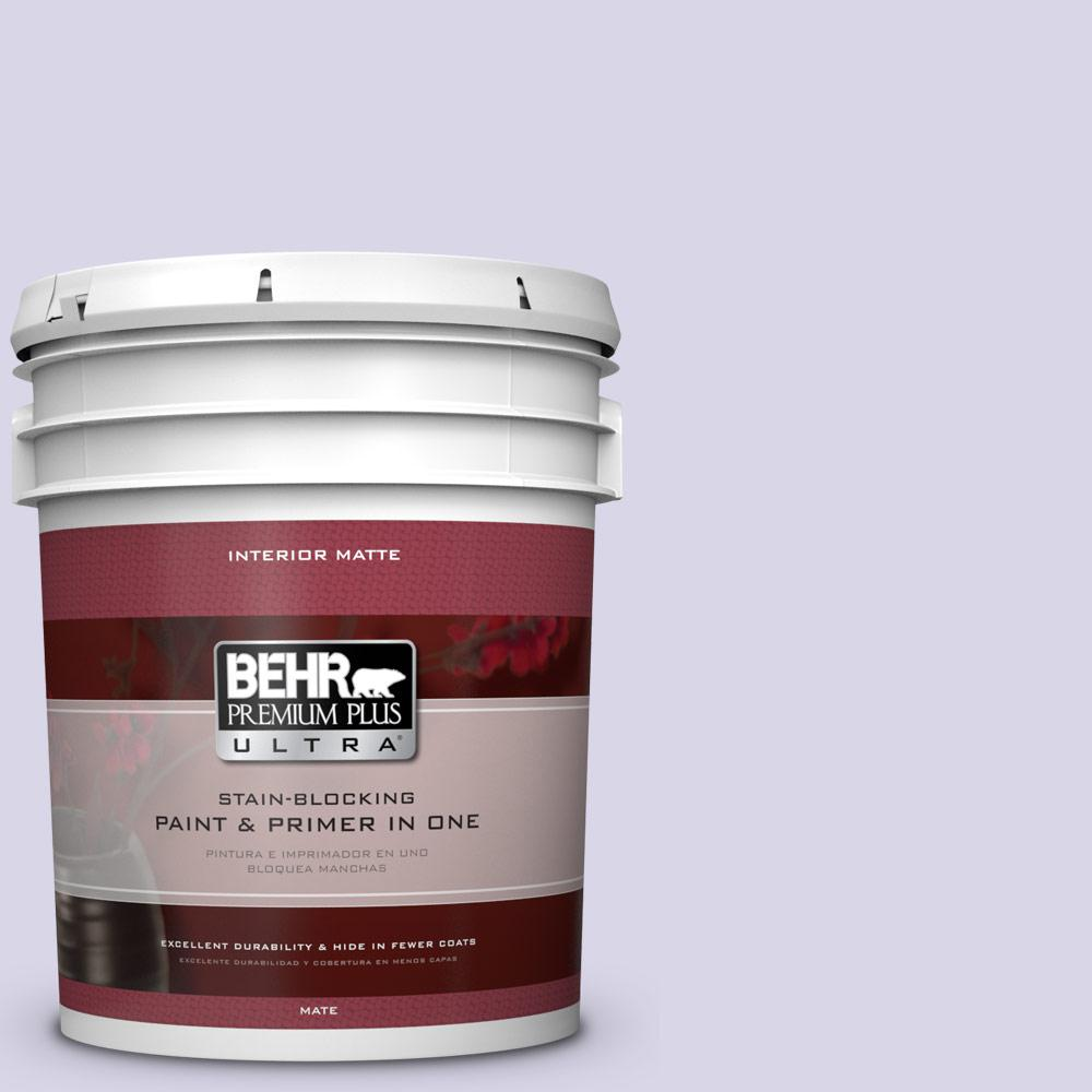 BEHR Premium Plus Ultra 5 gal. #630A-2 February Frost Flat/Matte Interior Paint