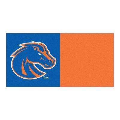 NCAA - Boise State University Blue and Orange Pattern 18 in. x 18 in. Carpet Tile (20 Tiles/Case)