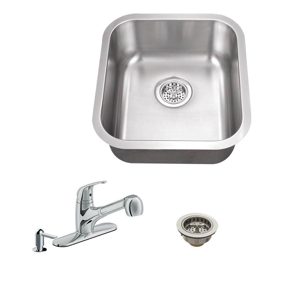 One Bowl Deep Basin Kitchen Sink