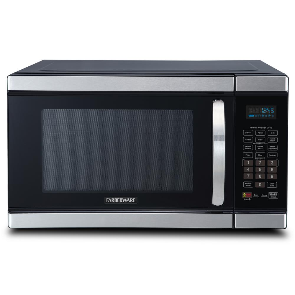 Farberware Gourmet 1 1 Cu Ft Countertop Microwave In Stainless