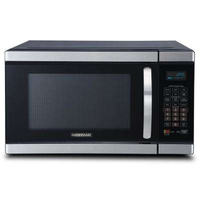 Gourmet 1.1 Cu. Ft. Countertop Microwave in Stainless Steel with Smart Sensor and Inverter Technology