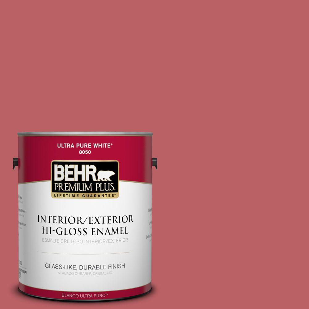 1-gal. #150D-6 Strawberry Rhubarb Hi-Gloss Enamel Interior/Exterior Paint