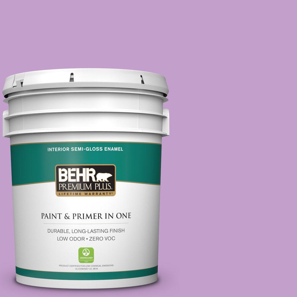 BEHR Premium Plus 5-gal. #P100-4 Lover's Knot Semi-Gloss Enamel Interior Paint