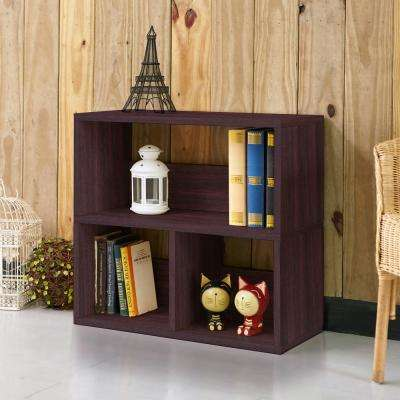Collins 2-Shelf Espresso Eco zBoard Stackable Tool-Free Assembly Bookcase Storage Organizer