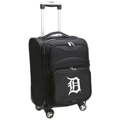 MLB Detroit Tigers 21 in. Black Carry-On Spinner Softside Suitcase